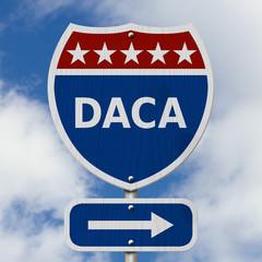 DACA USA Interstate highway sign