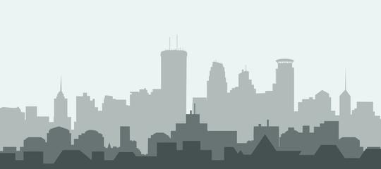 Minneapolis city Skyline - Vector