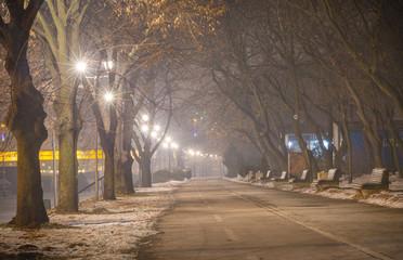 Promenade along the river Sava