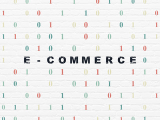 Business concept: E-commerce on wall background