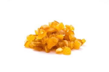 Orangeat isoliert auf weiß