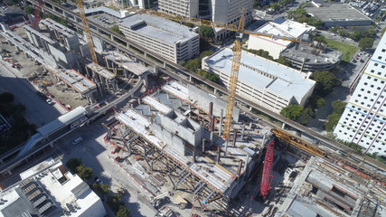 Miami Brightline central station construction site