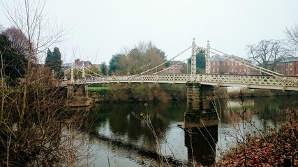 Hereford bridge over Wye River. Wales