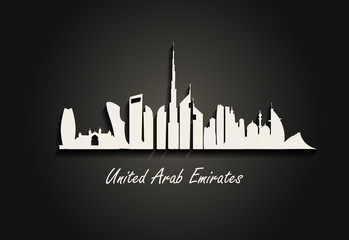 Background of skyscrapers in the United Arab Emirates On the occasion of UAE National Day - vector illustration