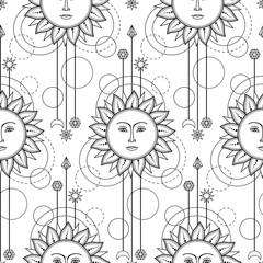 Sun Modern Seamless Pattern