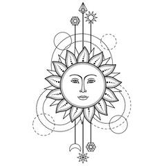 Sun Modern Symbol