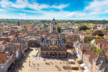 Panoramic view of Delft