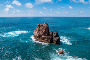 Portugal - Jagged rock in Atlantic ocean
