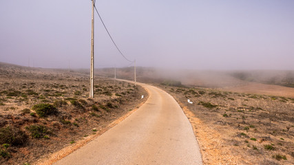 Portugal - Fog approaching road