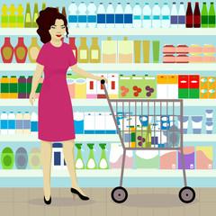 Girl in grocer