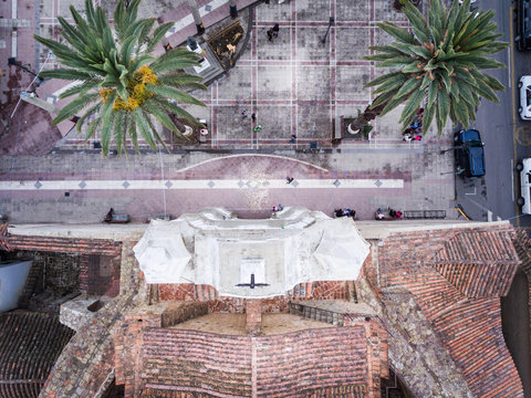 Church and Plaza Aerial