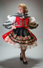 Czech folklore dancer