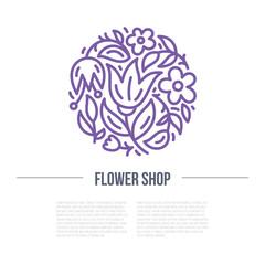 Floral design for a shop