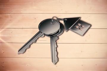 Composite image of digital composite image of keys