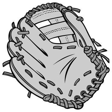 Baseball Glove Illustration