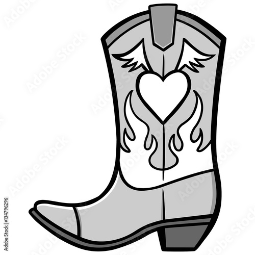 quotcowgirl boot illustrationquot stock image and royaltyfree
