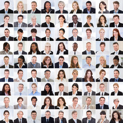 Collage Of Smiling Businesspeople