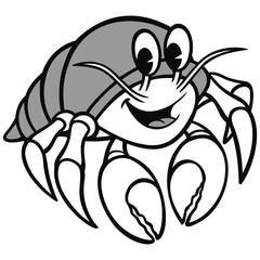 Hermit Crab Illustration