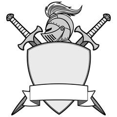 Knight Emblem Illustration