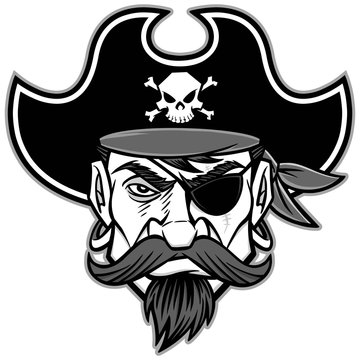 Pirate Mascot Illustration