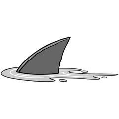 Shark Fin Illustration