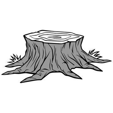Tree Stump Removal Illustration
