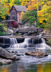 Glade Creek Gristmill, autumn scenic, West Virginia