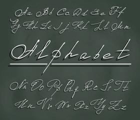 handwriting font with elegant swirls