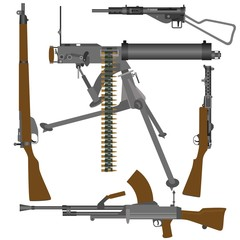 British guns of World War II