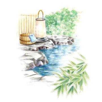 露天風呂・日本の温泉