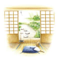 和室・夏の風景
