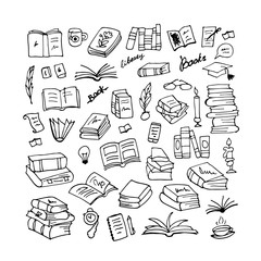Set of books, sketch for your design