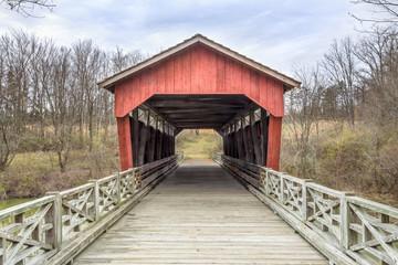 Shaeffer Campbell Covered Bridge in St. Clairsville, Ohio