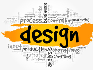 DESIGN word cloud collage, business concept background