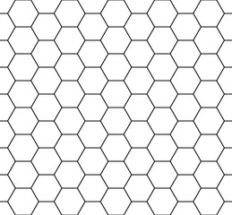 Seamless honeycomb pattern. Seamfree honey comb hexagon vector pattern.