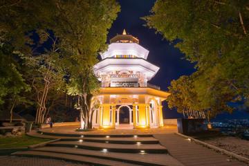 monument building at Khao Rang Viewpoint of  Phuket province Tha