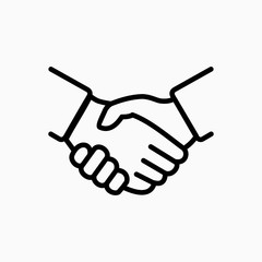 Handshake icon simple vector illustration. Deal or partner agreement symbol.