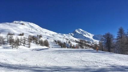 pista da sci a Sestriere