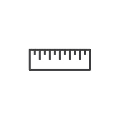 Ruler Icon Illustration Isolated Vector Sign Symbol