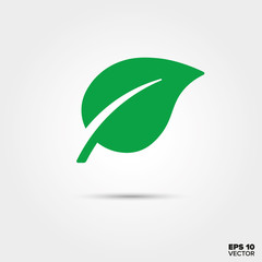 Leaf Icon. Environment and Nature Symbol.