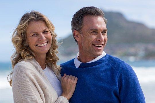 Mature couple enjoying on the beach