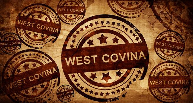 west covina, vintage stamp on paper background