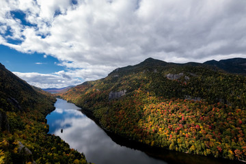 View from Indian Head cliff at Adirondack Park, New York, USA.
