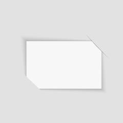 Blank retro photo frame over white. Vector illustration