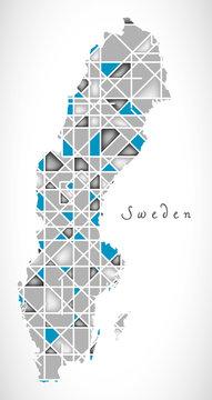 Sweden Map crystal diamond style artwork