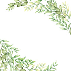 vector hand drawn leaves  banner