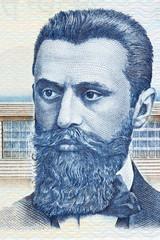 Theodor Herzl portrait from Israeli money