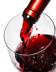 Fototapete - Red wine pouring
