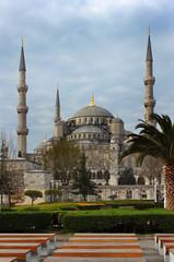 The Blue Mosque (Sultanahmet Camii), Istanbul, Turkey.