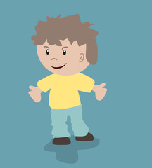 Vector illustratie van jongen